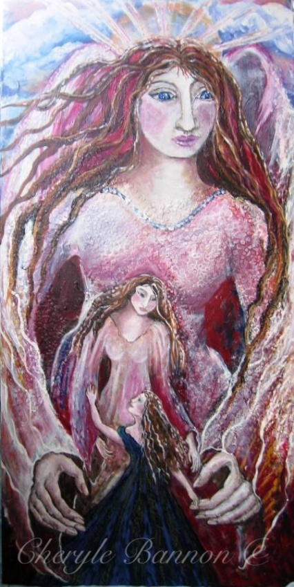 Original art work by Cheryle BannonMixed media acrylic painting on canvas