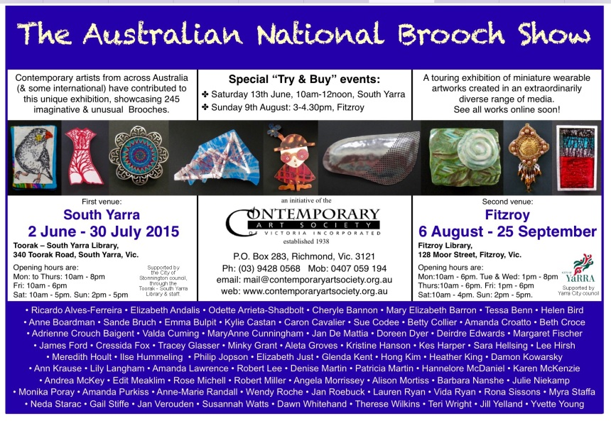 Brooch show invite