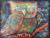 Original mixed media acrylic artwork by Cheryle Bannon©.